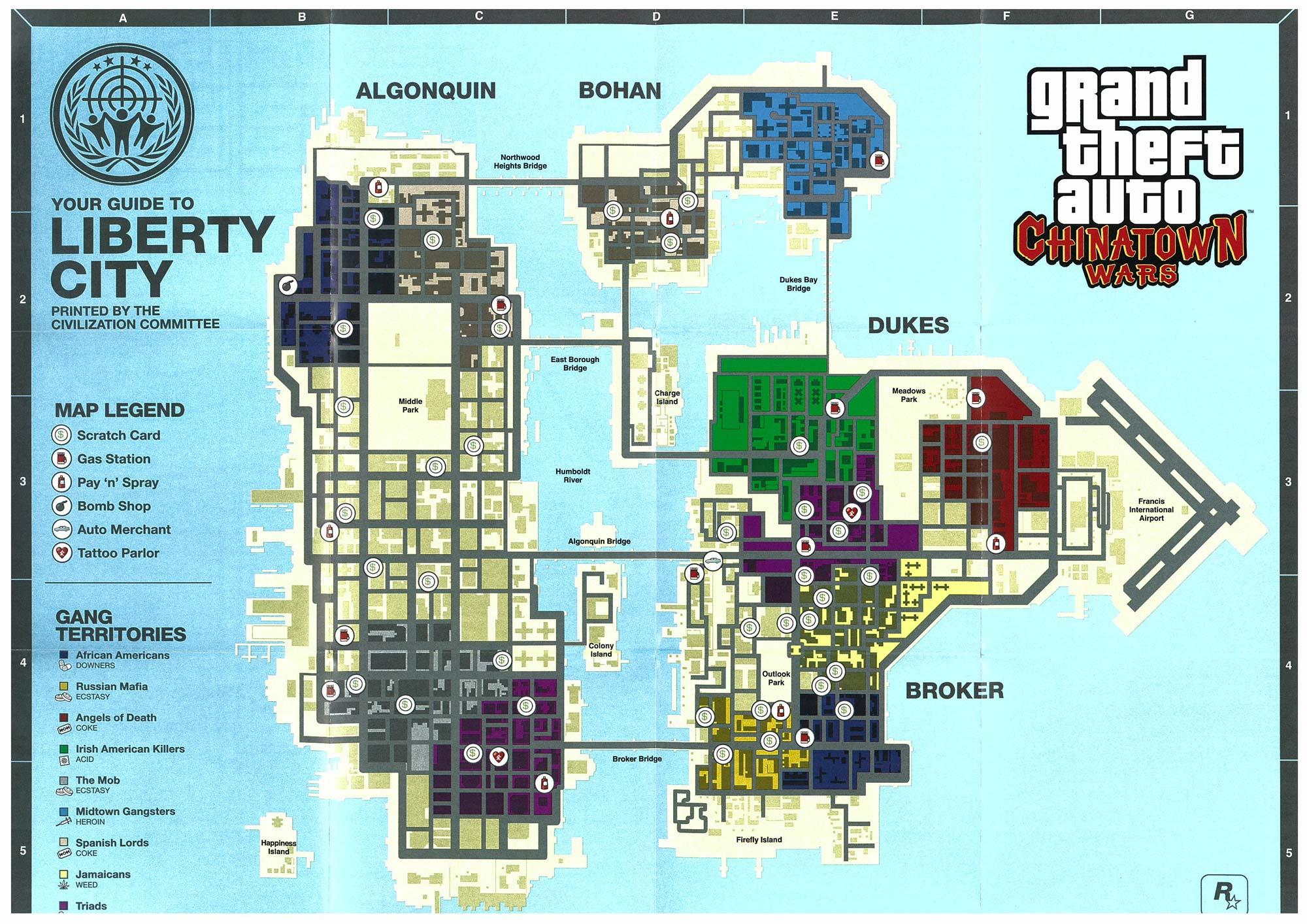 Maps de GTA Chinatown Wars - GTA Légende