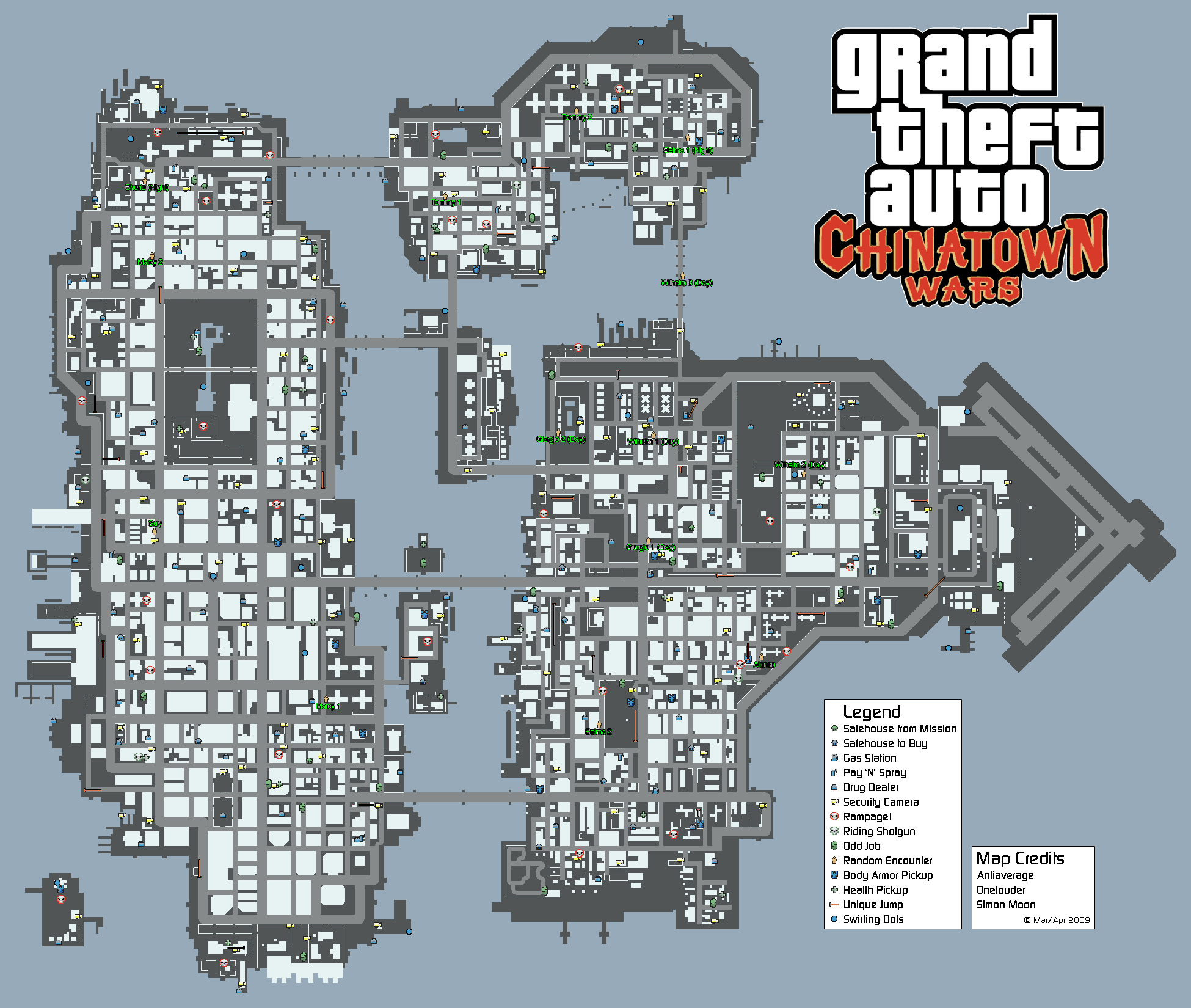 Maps De GTA Chinatown Wars