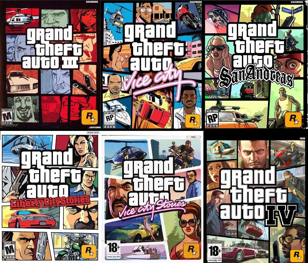 Voici tous les Grand Theft Auto: